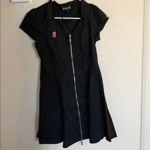 Zipper garage style dress.